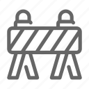 construction, barrier, work, road, barricade, traffic icon