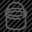 fill, bucket, tool, construction icon