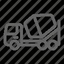 truck, mixer, concrete, cement, construction icon