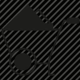 cart, loading, tool icon