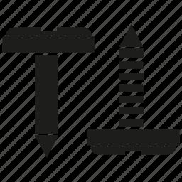 nail, tack, tool icon