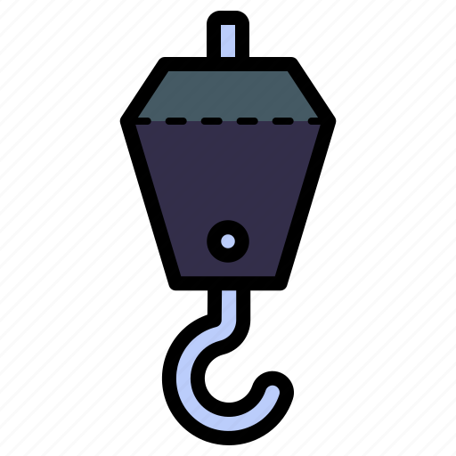 Crane, lift, hook, construction, tool icon - Download on Iconfinder
