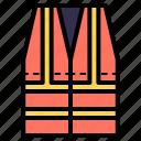 vest, life jacket, reflective vest, safety, protection