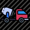 mixer, truck, concrete, cement truck, vehicle