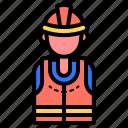 worker, construction, engineer, helmet, profession
