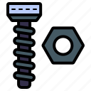 screw, bolt, tool, construction, equipment