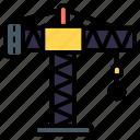 crane, lifting, hook, construction, tower crane