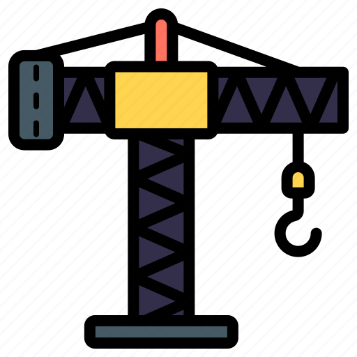 Crane, lifting, hook, construction, tower crane icon - Download on Iconfinder