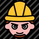 engineer, worker, labor, avatar, man, face, job