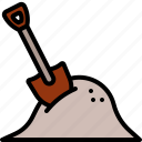 shovel, dig, gardening, construction, soil, site, dirt