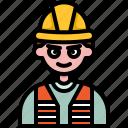 worker, labor, engineer, avatar, job, mechanic, man