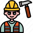 worker, man, engineer, labor, avatar, construction, mechanic