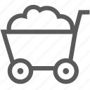barrow, buy, cart, hand cart, trolley, wagon icon