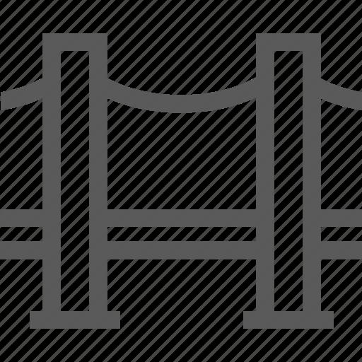 bridge, city, road, tower bridge icon