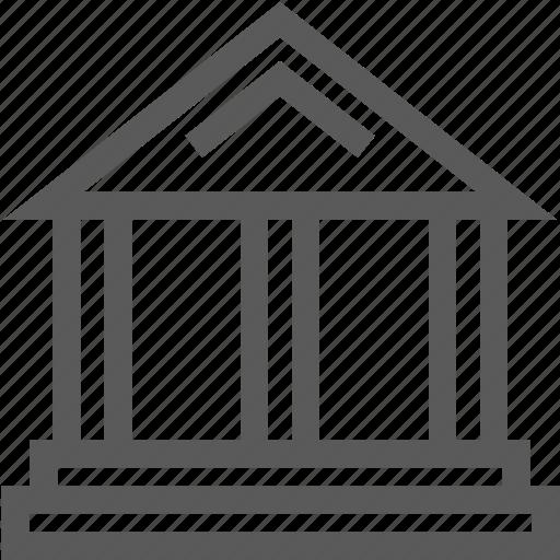bank, banking, cash, column, finance, forum, money icon