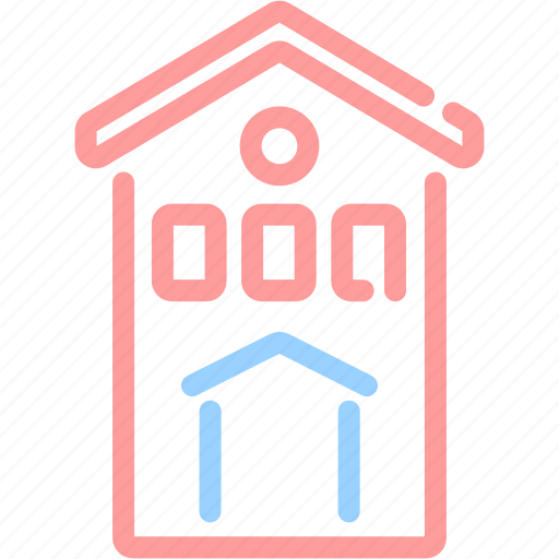 building, estate, home, house, real estate, restaurant, shop icon