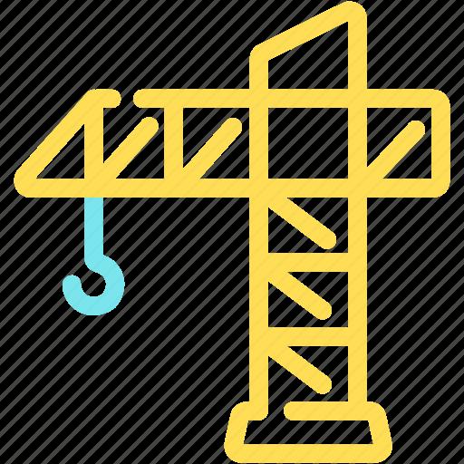 build, crane, equipment, establish, tool, work icon