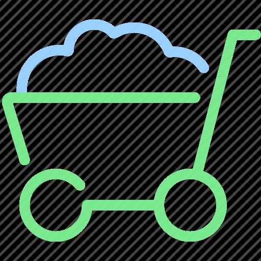 barrow, buy, cart, hand cart, trolley, wagon icon