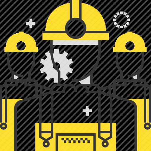 builder, construction, maintenance, man, service, worker icon