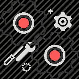 cogwheel, engine, gears, machine, spin icon