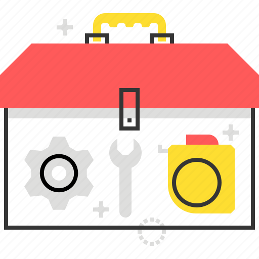 construction, equipment, fix, storage, tool box, worker icon