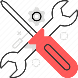 fix, options, screwdriver, settings, spanner, wrench icon