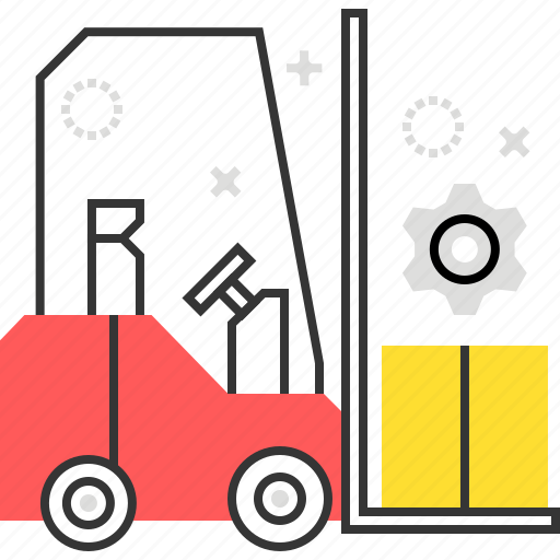 carry, fork, heavy, lift, truck icon