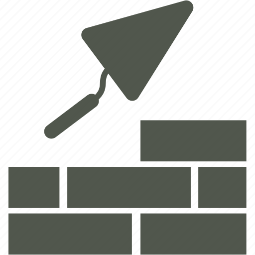 brickwork, building, mason, trovel icon