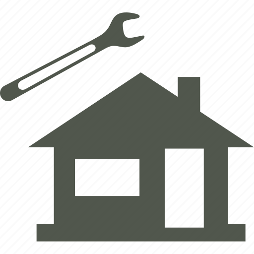 house, plumber, repairs, wrench icon