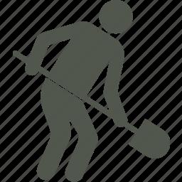 digger, shovel, workman icon