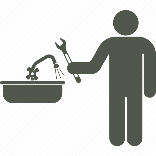 household service, plumber, repairs, workman icon