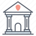 architecture, city building, infrastructure, police department, police office, police station icon