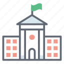 academy building, building, college, educational institute, school infrastructure icon
