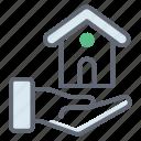 home lending, home loan, mortgage house, real estate lending, real estate loan icon