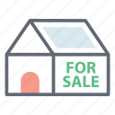 home sale, house for sale, property sale, real estate, sale advertisement icon