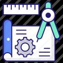 blueprint, engineering, sketch