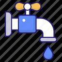 pipe, pipeline, plumbing, spigot, washing icon