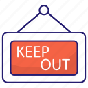 keep, out, check, hotel, restaurant