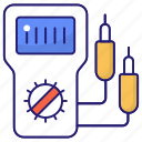 ampere, device, electric, meter, volt