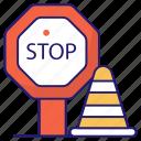 block, forbidden, sign, stop
