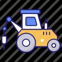 construction, driver, pile, transport