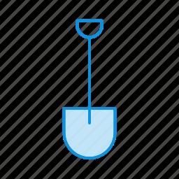garden, shovel, soil icon