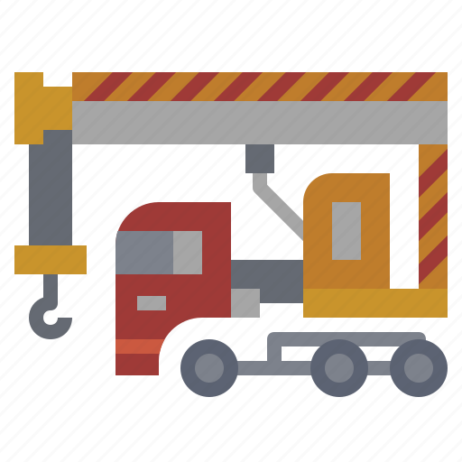 bulldozer, car, construction, crane, hydraulic, transportation, truck icon