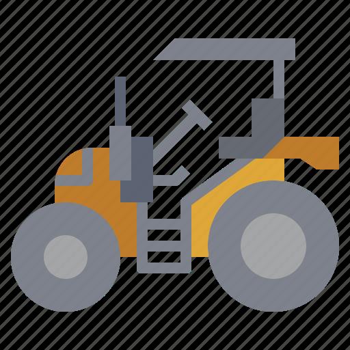 bulldozer, car, construction, tarctor, transport, transportation, truck icon