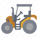bulldozer, car, construction, industry, trailer, transportation, truck icon