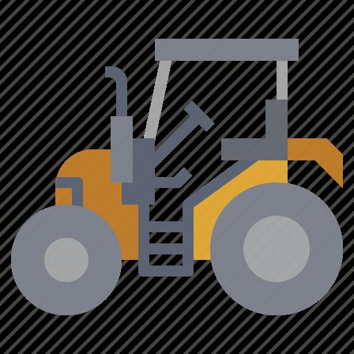 bulldozer, car, construction, industry, trailer, transportation, truck icon