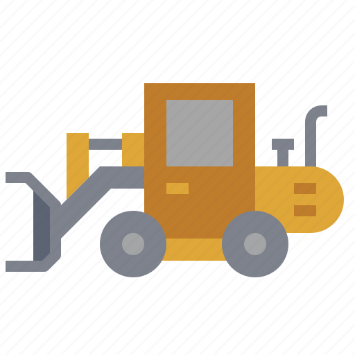 bulldozer, car, construction, loader, transportation, truck, wheel icon