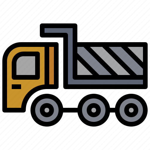 bulldozer, car, construction, dump, industry, transportation, truck icon