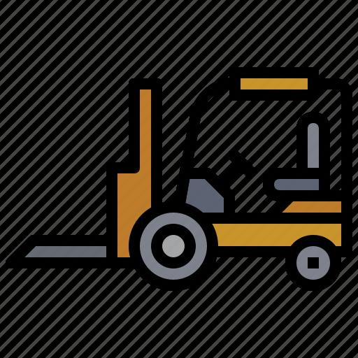 bulldozer, car, construction, fork, industry, transportation, truck icon