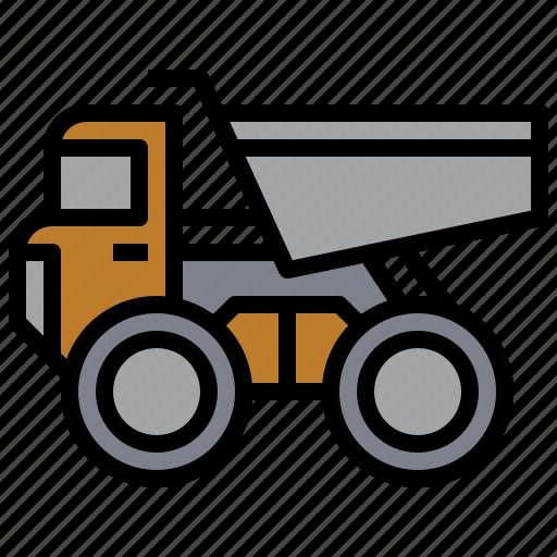 bulldozer, car, construction, excavator, industry, transportation, truck icon